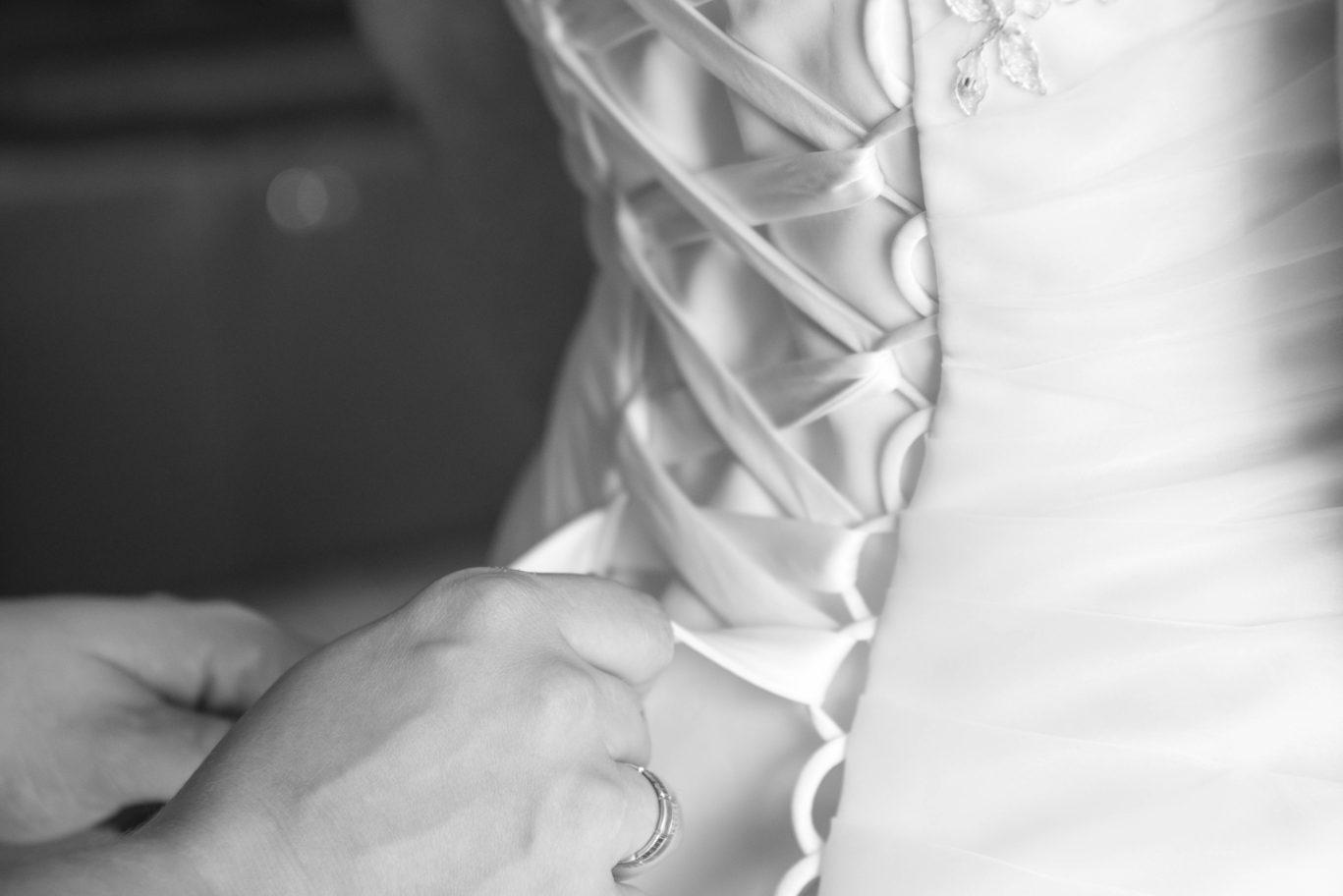 Préparation Mariage en noir & blanc